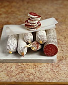 Various types of salami