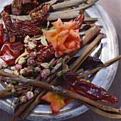 Middle Eastern seasonings (rose petals, cinnamon, chillies etc)