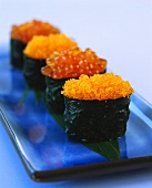 Ikura-sushi with salmon caviar