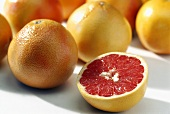 Red grapefruit, variety: Ruby Star (Citrus paradisi), Florida