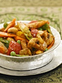 Vegetable jalfrezi (spicy vegetable ragout, India)