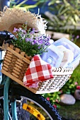 Picnic basket on a bicycle