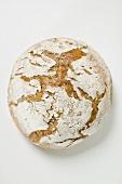 Rustic bread (overhead view)