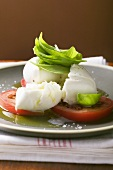 Insalata caprese (Tomaten mit Mozzarella und Basilikum)