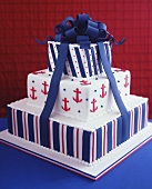 Wedding cake with maritime theme