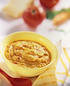 Carrot, tomato and celery puree for children