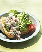 Crabmeat and lettuce sandwich