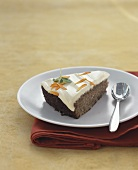 Piece of apple and carrot cake