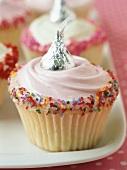 Cupcake with hundreds and thousands