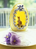 Marzipan egg with Easter bunny