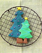 Two gingerbread Christmas trees