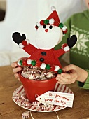 Peppermint sweets as Christmas gift