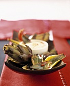 Artichokes with dip