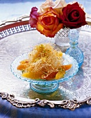Künefe (angel's hair dessert with rose water; Turkey)