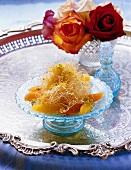 Künefe (Engelshaardessert mit Rosenwasser; Türkei)