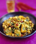 Chicken and chick-pea curry
