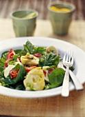 Artichoke salad with roast ham
