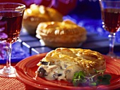 Puff pastry with beef and mushroom filling