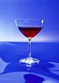 A glass of Manhattan