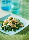 Salmon with mint and cucumber