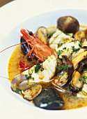 Zuppa di pesce (Italian fish soup with seafood)