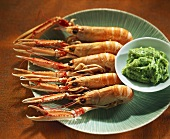 Scampi with herb mayonnaise