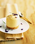 Orange mousse with lavender