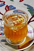 Kashmir kahwa (tea drink with almonds from Kashmir)