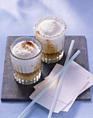 Coffee specialities: latte macchiato and caffé coco