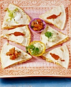 Quesadillas (filled tortillas)