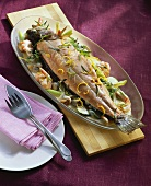 Salmon trout in Riesling