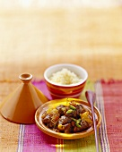Lamb tajine with dried fruit