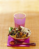 Middle Eastern lamb ragout with fruit and couscous