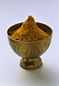 Small bowl of curry powder