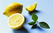 Lemon and lemon leaf