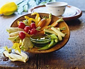Pinzimonio (raw vegetable salad), Tuscany, Italy