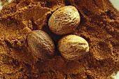 Three nutmegs on ground nutmeg