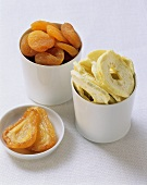 Dried fruits: pears, pineapple slices and apricots
