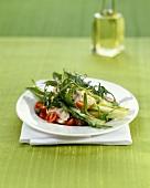 Marinated rabbit with salad