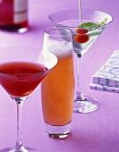 Alcoholic drinks: Shakerato, Rappelkiste & Martini Caprese