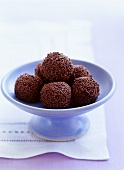 Rum balls with chocolate sprinkles
