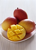 Mangos, one diced