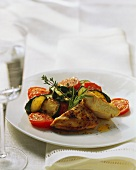 Turkey breast with roasted vegetables