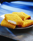 Breaded fish pieces