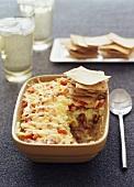 Vegetable casserole with nachos