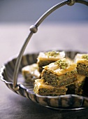Baklava (Oriental pastry with honey and pistachios)