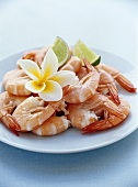 Cooked shrimp tails