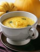 Creamed pumpkin soup with pumpkin seeds