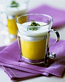 Mango lassi (mango yoghurt drink from India)