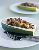 Courgettes with mince stuffing